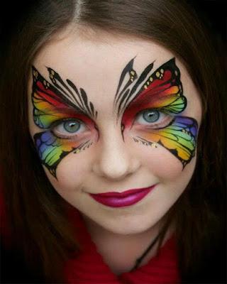 maquillaje de fantasia mariposa