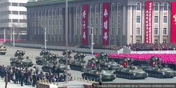 Capture d'écran de la vidéo de la Télévision centrale coréenne