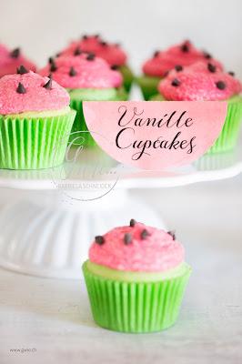 watermelon cupcake, wassermelone cupcake