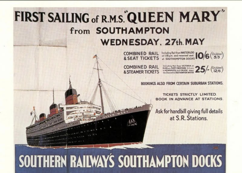 Image result for maiden voyage of the queen mary
