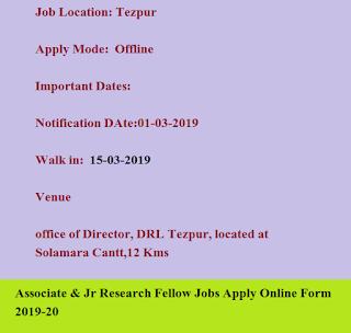 DRDO-DRL Recruitment 2019-20 Notification Defence Job - All