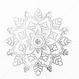 hand emroidery flowers type and round styles butta khaka drawings of hand embroidery and machine embroidery saree design.
