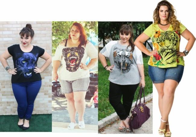 blusas da moda-camiseta animal-roupas da moda-camisetas plus size-camisetas criativas, camisas, t-shirt-moda-gordinhas