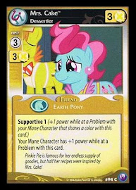 My Little Pony Mrs. Cake, Dessertier Canterlot Nights CCG Card