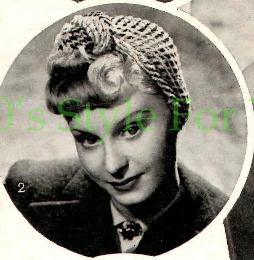 The Vintage Pattern Files  1940 s Crochet - Bestway 445 Womens Turban 5f8990545e2