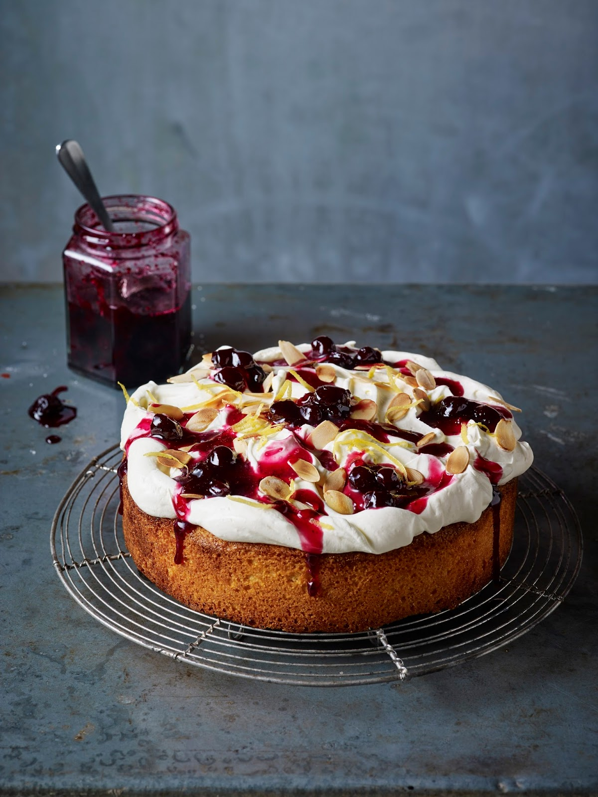 Earl Grey's Blueberry and Almond Polenta Cake... | Claire ...