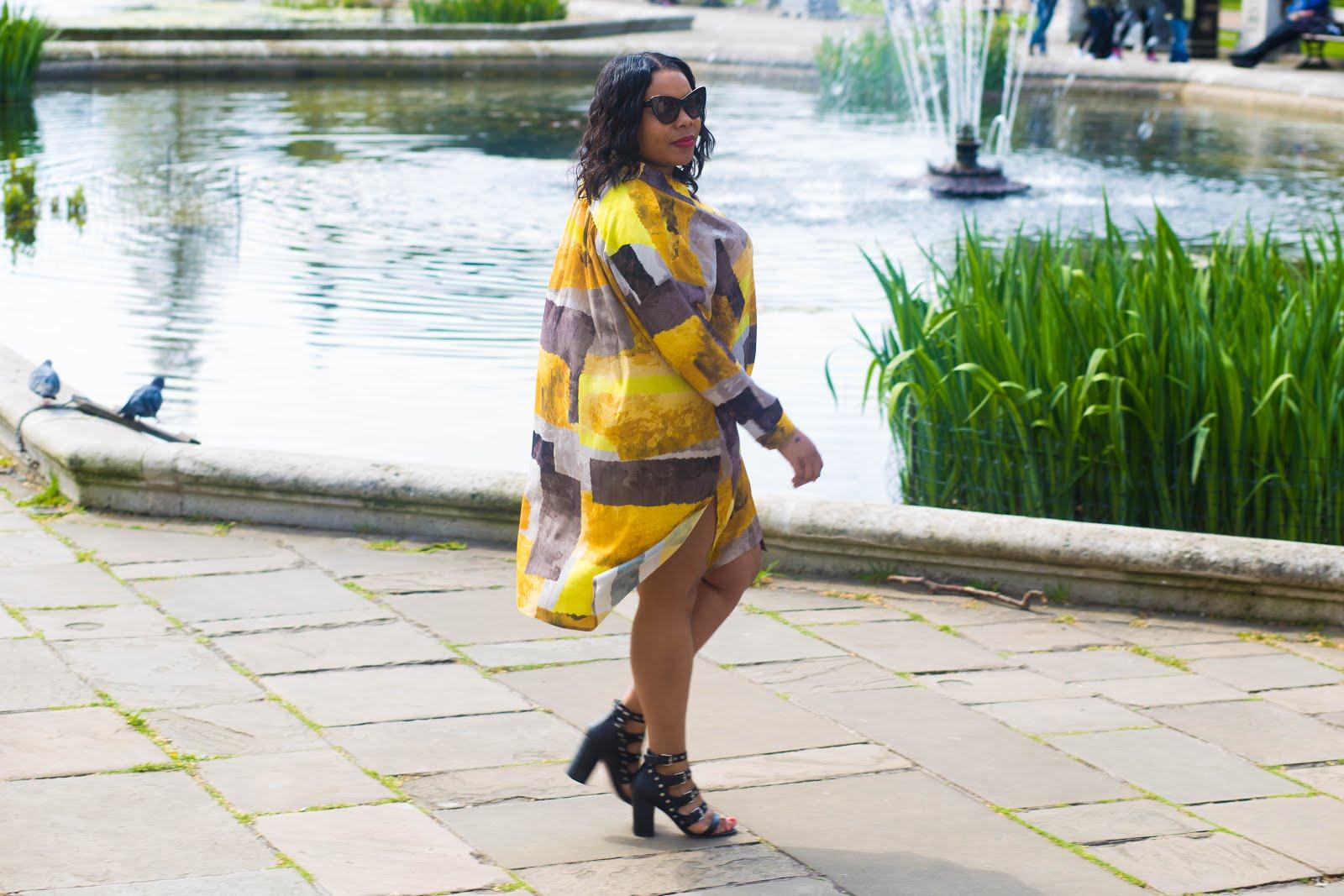 #OOTD Prints Charming – .@navabifashion Easy Breezy Shirt Dress