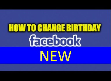 How to change your birthdate on facebook