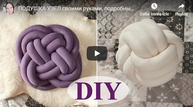 making knot pillow