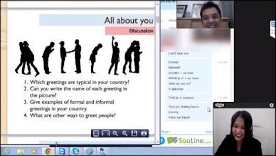Contoh metode pembelajaran Bahasa Inggris Online di Squline
