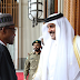 HAPPENING NOW: Buhari, Emir Of Qatar In A Secret Meeting In Aso Rock Villa
