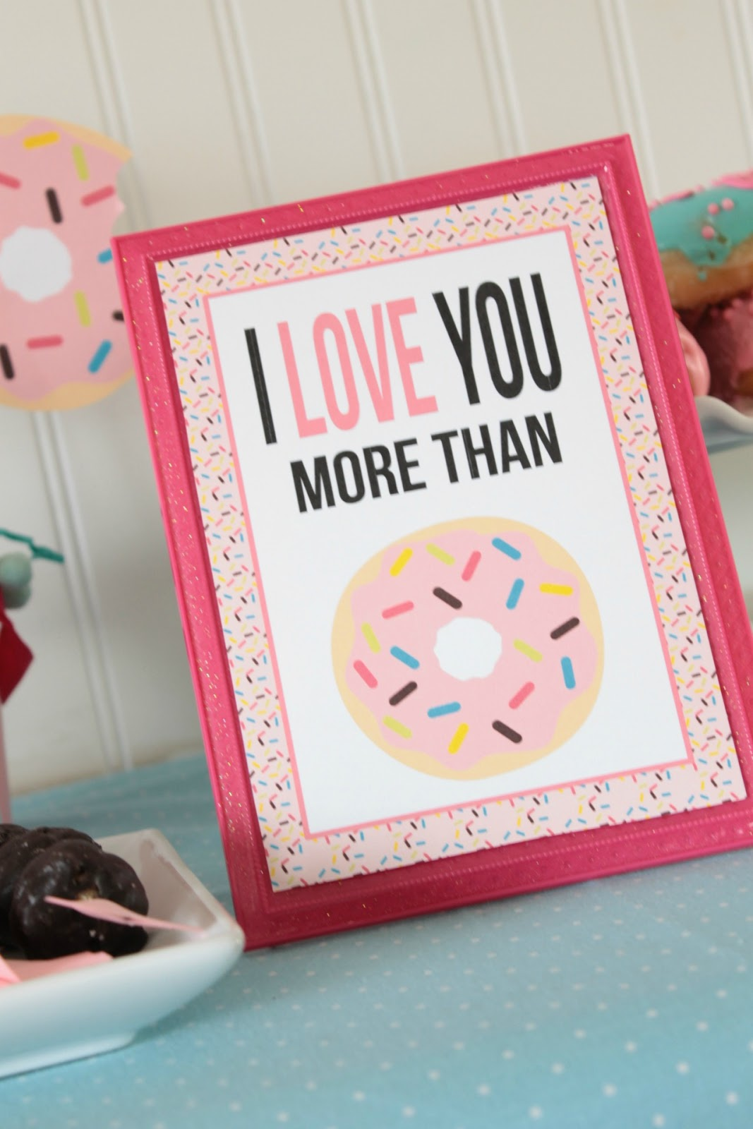 Donuts For You Valentine\'s Day Party - Everyday Party Magazine