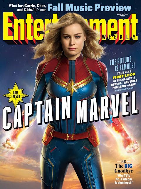 """Brie Larson como """"Captain Marvel"""" en la portada de la Entertainment Weekly."""