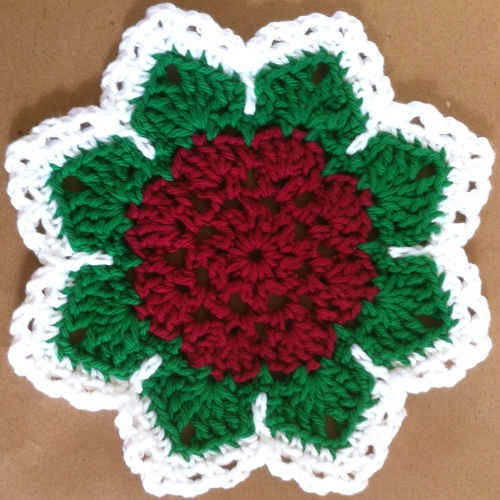 Flat Rose Dishcloth - Free Pattern