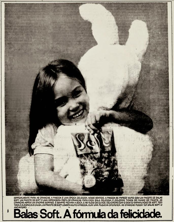 Propaganda de 1974 da Bala Soft em homenagem às crianças