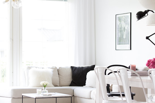 hortensia, olohuone, interior, koti