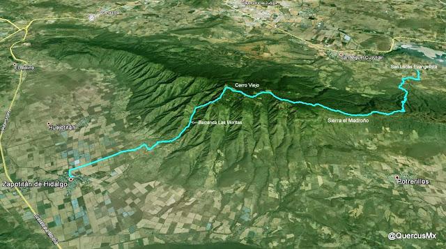 San Lucas Evangelista - Sierra el Madroño - Cerro Viejo - Zapotitán de Hidalgo