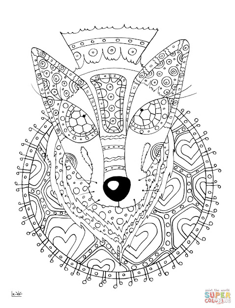 Wolf With Tribal Pattern