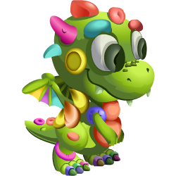 Appearance of Clay Dragon when baby