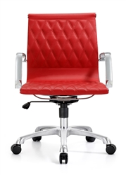 Woodstock Marketing Annie Series Red Leather Office Chair
