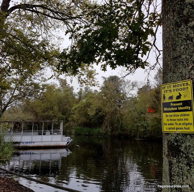 Atracadouro em um pântano da Luisiana