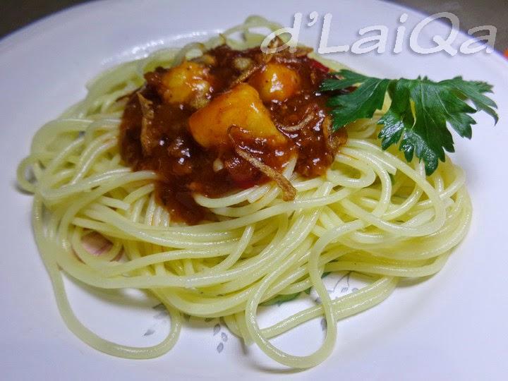 Spaghetti Bolognese Udang ala Rika (1)