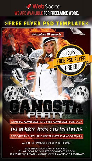 Flyer Gangsta Party Template