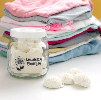 Φτιάξτε ταμπλέτες για το πλυντήριο ρούχων