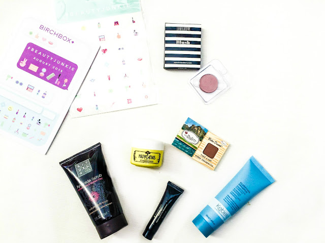 Contents of Birchbox #BeautyJunkie August 2015