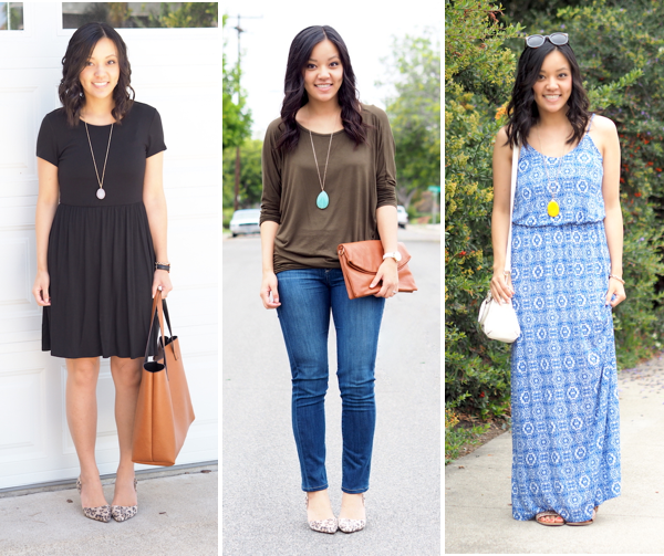 pendant necklace outfits