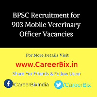 BPSC Recruitment for 903 Mobile Veterinary Officer Vacancies