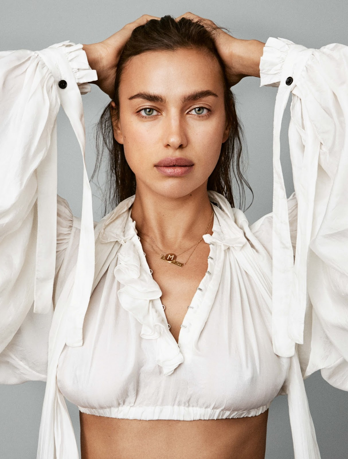 Irina Shayk poses for Vogue Deutschland (Germany) April 2018