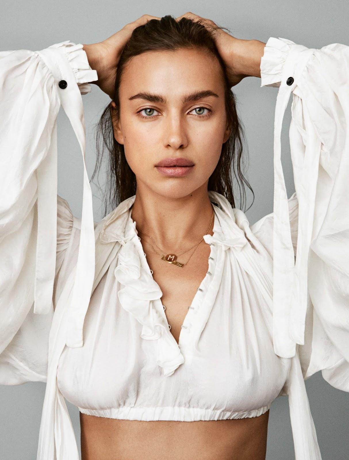Irina Shayk poses for Vogue Deutschland (Germany) April 2018