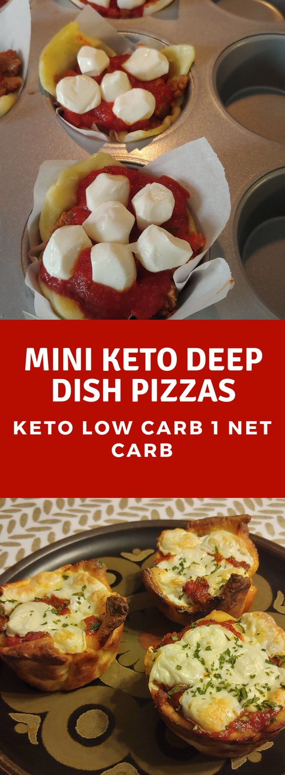 Keto/Low Carb Mini Deep Dish Pizzas