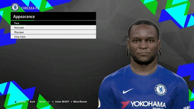 Victor Moses Face (Chelsea) PES 2017