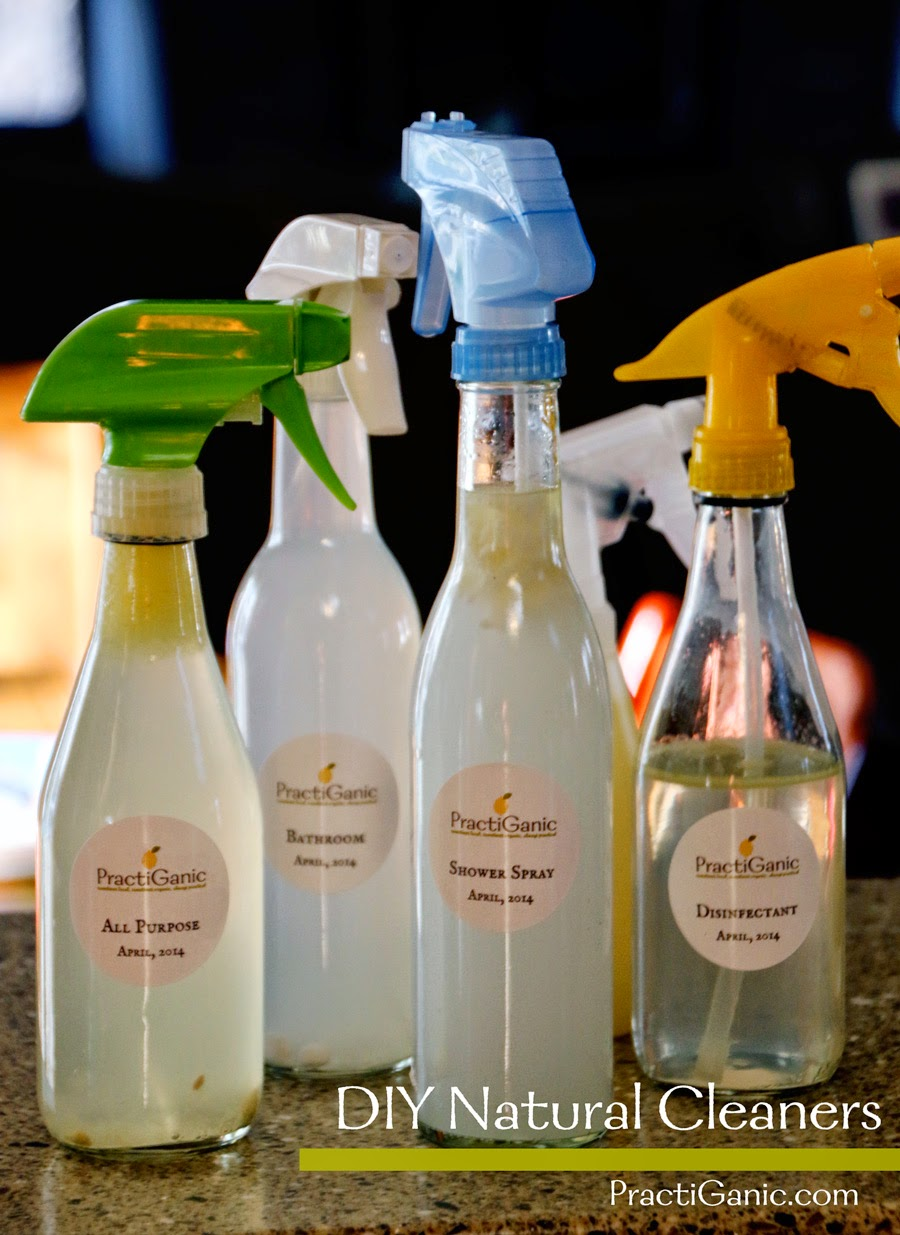 DIY Natural Cleaners and Spray Bottles