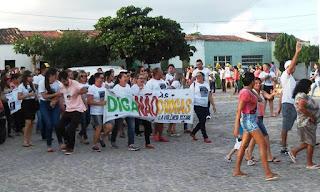 Caminhada encerra Campanha contra Drogas e Abuso Sexual em Baraúna