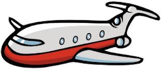 Dibujo de un avión para niños