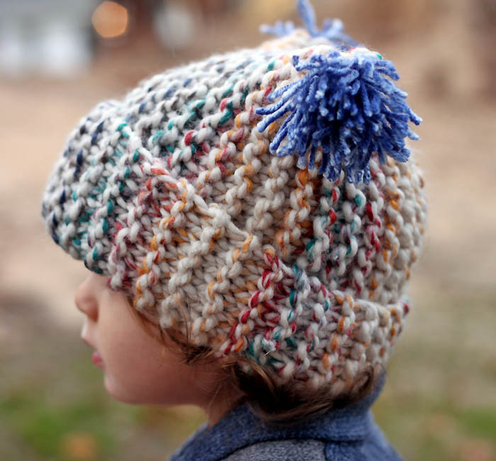 Free Knitting Pattern Garter Stitch Hat : Flat Knit Garter Stitch Hat Knitting Pattern- Super Easy ...
