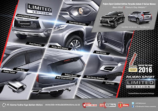 Aksesoris All New Pajero Sport Limited Edition