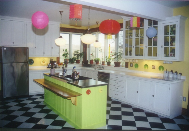 Of Colorful Kitchen Interior Design Ideas Inspiration The Kitchen New Home Ideas- Kitchen Interior With Colourful Illumination