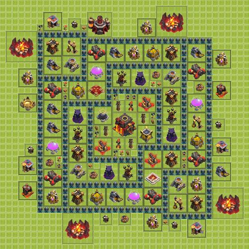 Clash of Clans Town Hall 10 Tropi Type