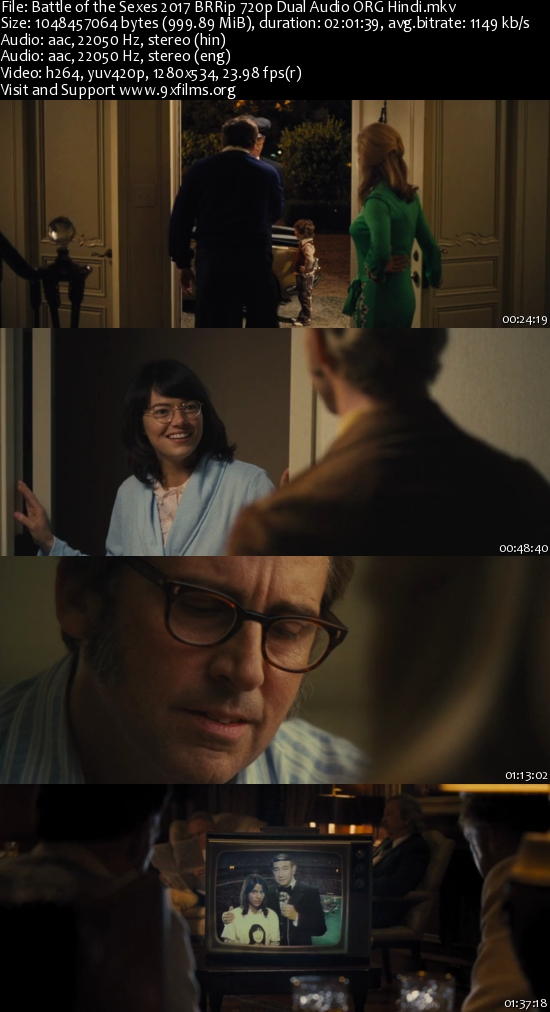 Battle of the Sexes 2017 BRRip 720p Dual Audio Hindi