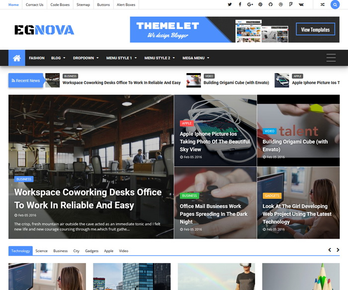 Egnova Blogger Template