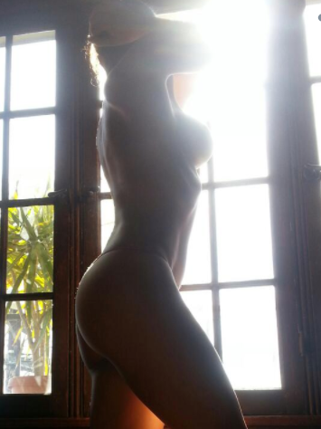 Adrianne Curry's silhouette is making us blush