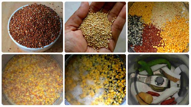 Quinoa Banana Flower Adai/Quinoa Vazhaipoo adai dosa (No Onion No Garlic)