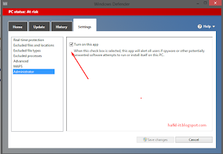 mematikan windows defender
