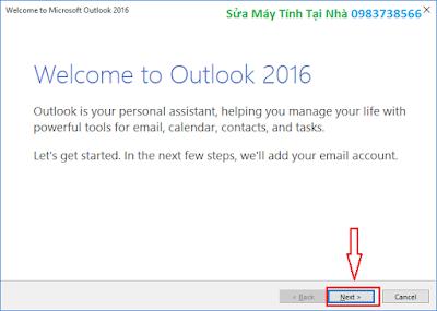 Hướng dẫn cài đặt Outlook 2016 - H01