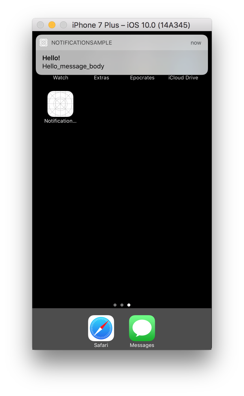 Objective c background image no repeat - Once The Notification Is Triggered And The Application Is In Background Notification Ui Will Pop Up With A Sound