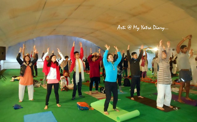 Chinese Yoga by Hand - International Yoga Day, Parmarth Niketan, Rishikesh